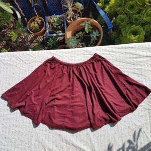Brandy Melville Sandy Circle Skirt Suede Maroon